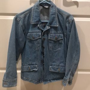 DKNY faded blue denim jacket